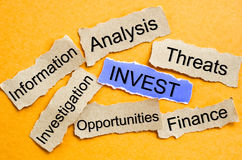 Invest word cloud. Invest word cloud, business concept Stock Photography