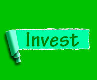 Invest Word Shows Internet Investment And Returns Royalty Free Stock Photo