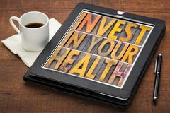 Invest in your health concept Stock Photography