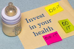Invest in your health - the concept of a healthy lifestyle Royalty Free Stock Images