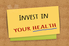 Invest in your health Royalty Free Stock Photography