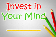 Invest In Your Mind Concept Stock Photo