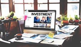 Investa il concetto dell'economia del reddito di profitto di investimento immagine stock libera da diritti