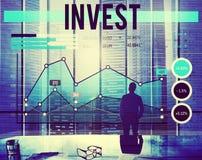 Investa il concetto di reddito del reddito del fondo di investimento fotografie stock libere da diritti