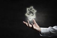 Investa la vostra destra dei soldi Immagine Stock Libera da Diritti