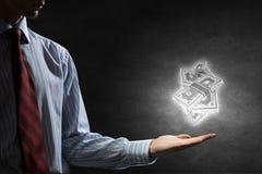 Investa la vostra destra dei soldi Immagini Stock Libere da Diritti