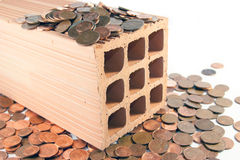Investa in mattoni e mortaio Fotografia Stock Libera da Diritti