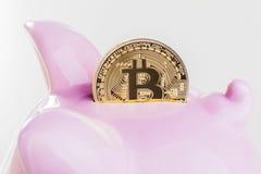 Investa nel bitcoin Immagine Stock