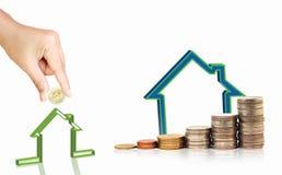 Investa nel concetto del bene immobile Immagini Stock