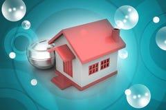 Investa nel concetto del bene immobile Fotografie Stock