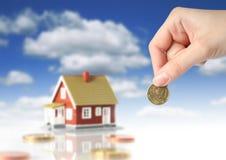 Investa nel concetto del bene immobile. Fotografia Stock