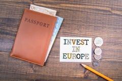 Investa nel concetto di Europa immagine stock
