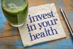 Investa nel vostro consiglio di salute fotografia stock libera da diritti