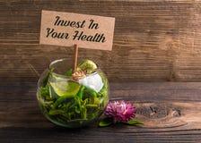 Investa nella vostra salute fotografia stock libera da diritti