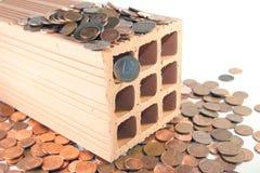 Investeer in bakstenen en mortier royalty-vrije stock foto