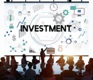 Investeer Concept van de Winstkosten van het Investerings het Financiële Inkomen royalty-vrije illustratie