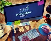 Investeer Concept van de Winstkosten van het Investerings het Financiële Inkomen stock afbeelding