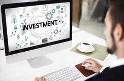 Investeer Concept van de Winstkosten van het Investerings het Financiële Inkomen stock foto's