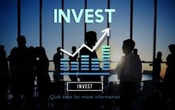 Investeer Concept van de Winstkosten van het Investerings het Financiële Inkomen royalty-vrije stock foto