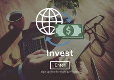 Investeer Concept van de Winstkosten van het Investerings het Financiële Inkomen royalty-vrije stock foto's