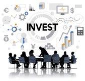 Investeer Concept van de Winstkosten van het Investerings het Financiële Inkomen stock afbeeldingen