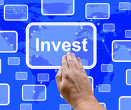 Investeer de Knoop die van Word Besparing vertegenwoordigt stock fotografie