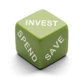 Investeer dobbelen royalty-vrije stock afbeeldingen