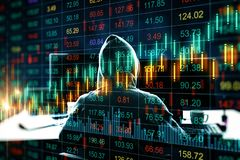 Investeer en diefstalconcept royalty-vrije stock fotografie