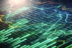Investeer en financier achtergrond stock fotografie