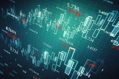 Investeer en financier behang royalty-vrije illustratie