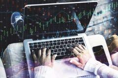 Investeer en handelaarconcept royalty-vrije stock foto