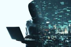 Investeer en malware concept stock foto