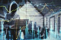 Investeer en misdadig concept royalty-vrije stock afbeeldingen