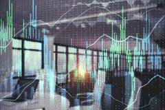 Investeer en voorraadconcept stock afbeelding