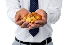 Investeer in goud. Het verdubbelen van uw geld. royalty-vrije stock afbeelding