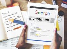 Investeer het Concept van de de Opbrengsteconomie van de Investeringswinst stock foto