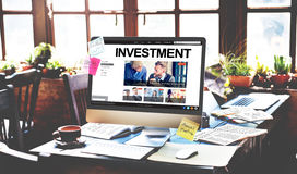 Investeer het Concept van de de Opbrengsteconomie van de Investeringswinst royalty-vrije stock afbeelding