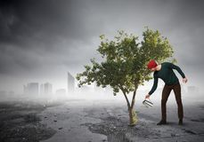 Investeer net voor betere toekomst Gemengde media stock fotografie
