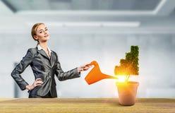 Investeer om uw inkomens te verhogen Gemengde media stock fotografie