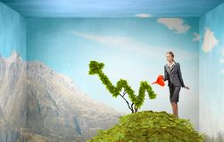 Investeer om uw inkomens te verhogen Gemengde media royalty-vrije stock fotografie