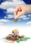 Investeer in onroerende goederen. Royalty-vrije Stock Foto's