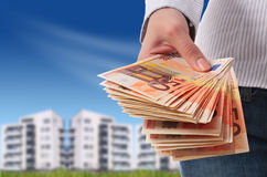 Investeer in onroerende goederen. royalty-vrije stock foto