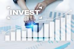 Investeer Rendement van investering Financiële Growth Technologie en bedrijfsconcept royalty-vrije stock fotografie