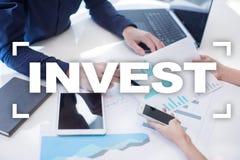 Investeer Rendement van investering Financiële Growth Technologie en bedrijfsconcept stock fotografie