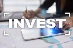 Investeer Rendement van investering Financiële Growth Technologie en bedrijfsconcept royalty-vrije stock foto