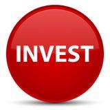 Investeer speciale rode ronde knoop Stock Afbeeldingen