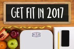 Investeer in uw gezondheid, Gezond levensstijlconcept met dieet en Royalty-vrije Stock Foto's