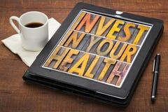 Investeer in uw gezondheidsconcept stock fotografie