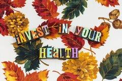 Investeer uw gezondheidslevensstijl royalty-vrije stock foto