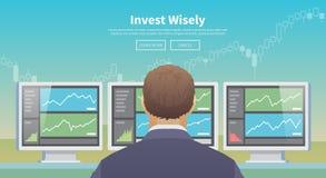 Investeer wijselijk Vector illustratie Royalty-vrije Stock Fotografie